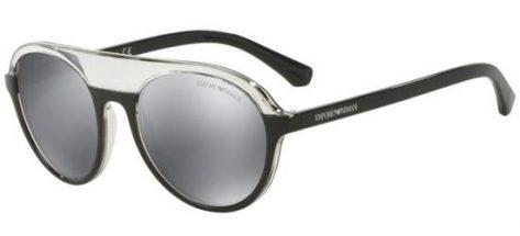 EMPORIO ARMANI EA4067 55226G Crystal Black/Grey Black Mirror