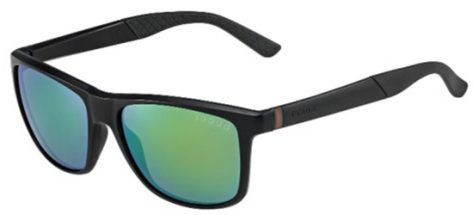 GUCCI GG1047/B/S DL5Z9 Matt Black Grey With Green Mirror Effect