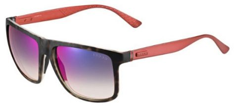 GUCCI GG1075/S H6QHI Frame In Havana With Red Aluminium Temple / Lenses Grey Gradient With Blue Mirror Effect