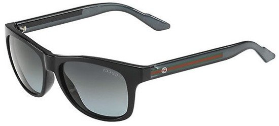 GUCCI GG3709/S IMXPT Shiny Black/Grey Gradient Lens