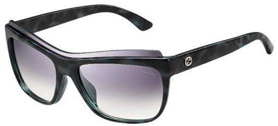 GUCCI GG3782/S LZYQP Shiny Havana Black/ Gradient Grey Silver Mirror