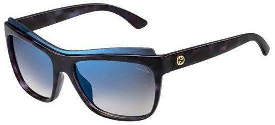 GUCCI GG3782/S LZZKM Shiny Havana Dark Blue/ Gradient Grey Blue Mirror