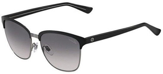 GUCCI GG4271/S 2D9EU Shiny Black Shiny Gun/ Grey Gradient Lens