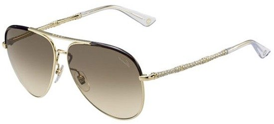 GUCCI GG4276/N/S J5GCC Shiny Gold Strass Coated Temples/ Brown Gradient Lens