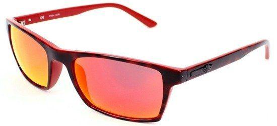 POLICE S1870 6XRR Shiny Havana Brown Orange/ Orange Mirror Lens