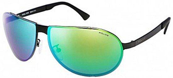 POLICE S8843 531V Matt Blackl/ Shiny Green Mirror