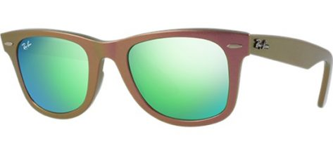 RAY-BAN RB2140 6110/19 Metallic Pink/ Grey With Green Mirror
