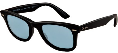 RAY-BAN RB2140 901S3R Matte Black/ Polarised Blue