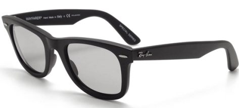 RAY-BAN RB2140 901/SP2 Matte Black Polarized Medium Grey