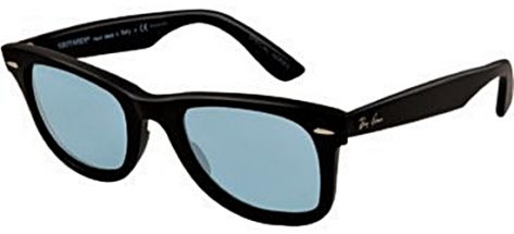 RAY-BAN RB2140 9IS/S3R Matt Black/ Light Blue Polarised Lens