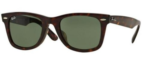 RAY-BAN RB2140F 902 Shiny Havana Brown/ Green Lens
