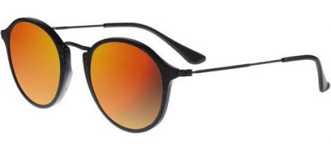 RAY-BAN RB2447 901/4W Shiny Black/Grey Red Mirror Shaded