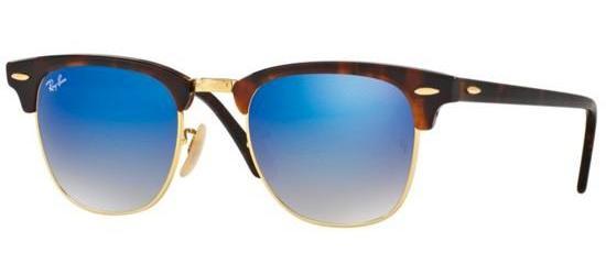 RAY-BAN RB3016 990/7Q Shiny Light Havana/Crystal Blue Mirror Shaded