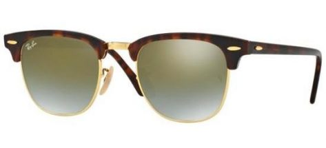 RAY-BAN RB3016 990/9J Shiny Light Havana/Crystal Green Mirror Shaded