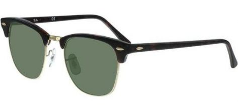 RAY-BAN RB3016 W03/66 Mock Tortoise Gold/Crystal Grey Green