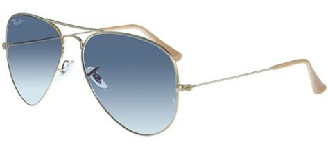 RAY-BAN RB3025 001/3F Gold/Crystal Blue Shaded