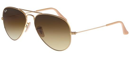 RAY-BAN RB3025 112/85 Matte Gold/Crystal Brown Gold Shaded