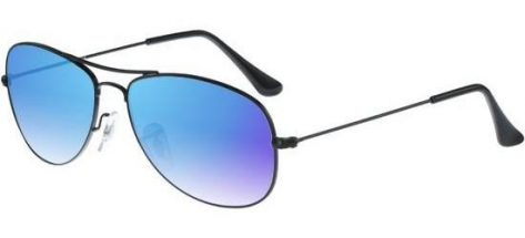RAY-BAN RB3362 002/4O Shiny Black/Crystal Blue Mirror Shaded