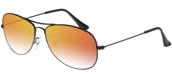 RAY-BAN RB3362 002/4W Shiny Black/Crystal Grey Orange Mirror Shaded