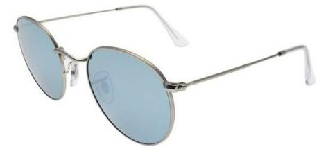 RAY-BAN RB3447 019/30 Matte Palladium/Crystal Light Blue Mirror