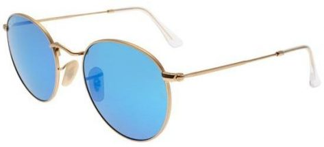 RAY-BAN RB3447 112/4L Matte Gold/Crystal Blue Mirror Polarized