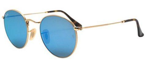 RAY-BAN RB3447N 001/9O Gold/Light Blue Mirror