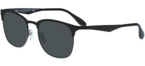 RAY-BAN RB3538 186/71 Black/Dark Grey Green