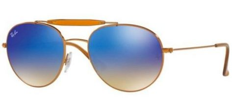 RAY-BAN RB3540 198/8B Shiny Bronze/Blue Mirror Shaded