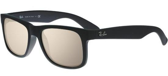 RAY-BAN RB4165 622/5A Black Rubber/Light Brown Gold Mirror
