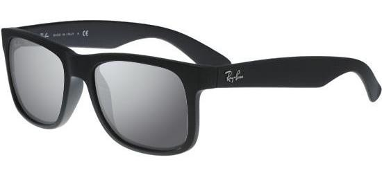 RAY-BAN RB4165 622/6G Black Rubber/Grey Silver Mirror
