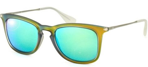 RAY-BAN RB4221 6169/3R Shiny Olive/ Green Mirror Lens