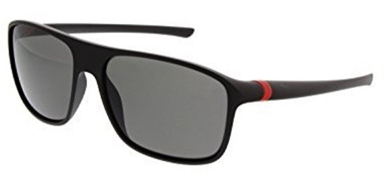 TAG HEUER TH6041 909 Matt Black Red/ Polarised Grey Lens