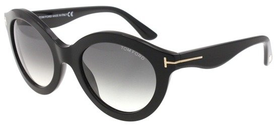 TOM FORD TF359 01B Shiny Black Gradient Smoke Lenses