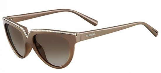 VALENTINO V647SR 671 Shiny Olive Green White Crystals/ Grey Gradient Lens