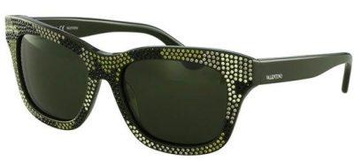 VALENTINO V690SR 310 Shiny Black/ Dark Green Lenses
