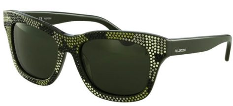VALENTINO V690SR 310 Shiny Black/ Dark Green Lenses