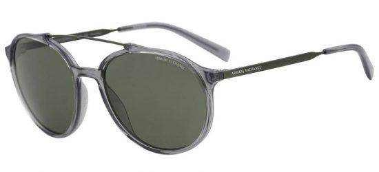 Armani Ex AX4069s 8243/9A Transparent Dark Grey/Green
