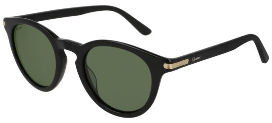 Cartier CT0010S 004 Black Black Gold/green