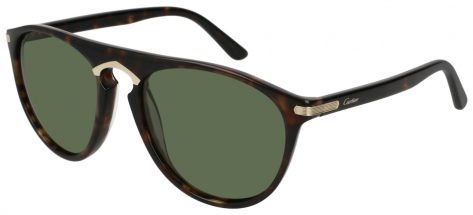 Cartier CT0013S 002 Brown Havana/green