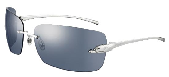 CARTIER T8200849 SILVER Shiny Platinum Finish/Blue Silver Mirror Lenses