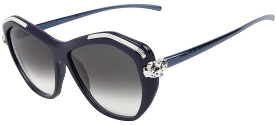 CARTIER T8201075 BLUE Blue Palladium Finish/Grey Shaded Lenses