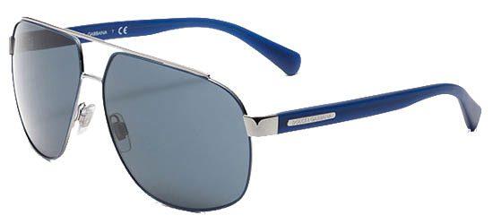 DOLCE & GABBANA 2138 124687 Gunmetal/Blue