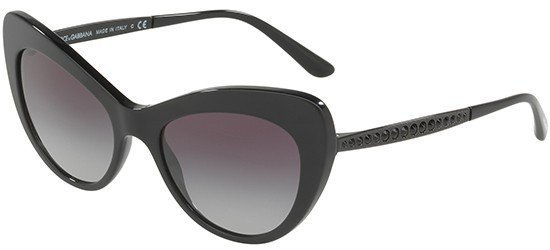 DOLCE & GABBANA 4307B 2525/8G Black Frame/Grey Shaded Lenses
