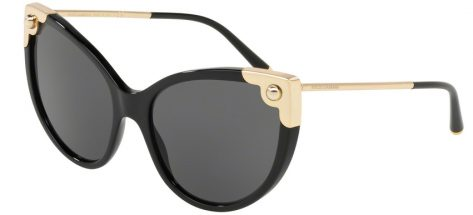 DOLCE & GABBANA 4337 501/87 Shiny Black/grey