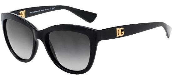 DOLCE & GABBANA 6087 501/8G Black Frame/Grey Gradient Lenses