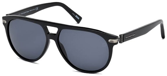 ERMENEGILDO EZ0043 01/V Shiny Black/Blue