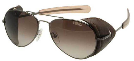FENDI FS5215L 0 33 Dark Ruthenium/Smoke Shaded