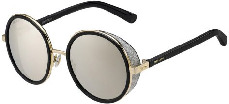 Jimmy Choo Andie/s J7Q/M3 Rose Gold and Black/Silver Mirrored