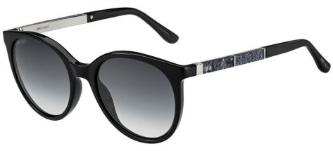 Jimmy Choo ERIE/S 807/9O Black Silver/Dark Grey