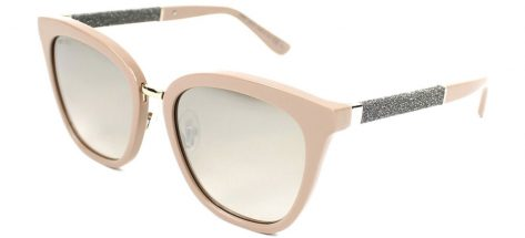 Jimmy Choo Fabry/s KDZ/NQ Beige Ruthenium/Brown Mirror